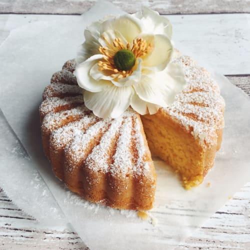 torta vegan con las naranjas y zanahorias