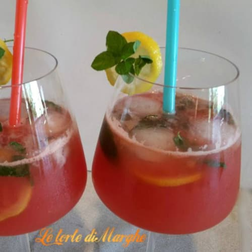 Non-alcoholic cocktail with watermelon juice
