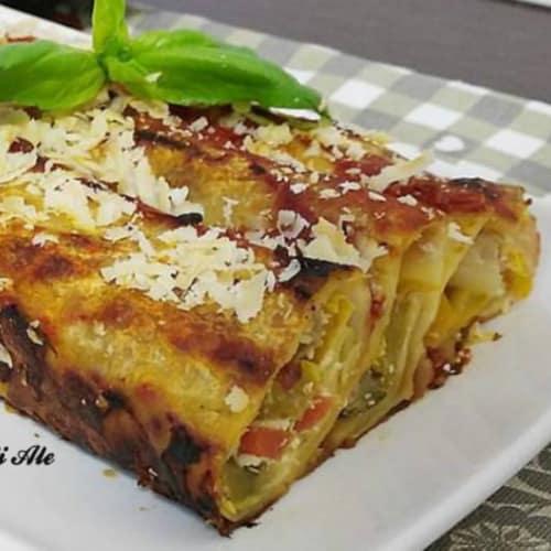 Cannelloni with caponata