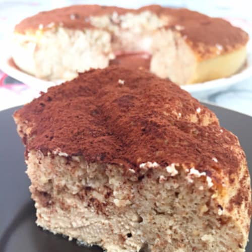 Donut protein caramel with coffee cream