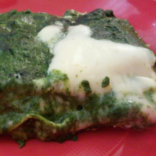 lasaña vegetariana con espinacas