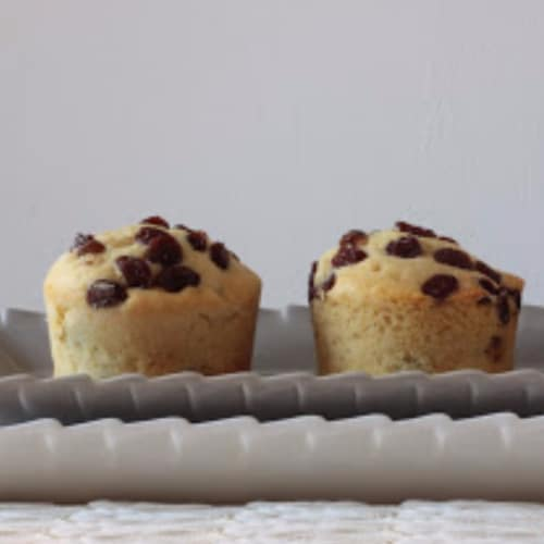 Muffin all'uva sultanina