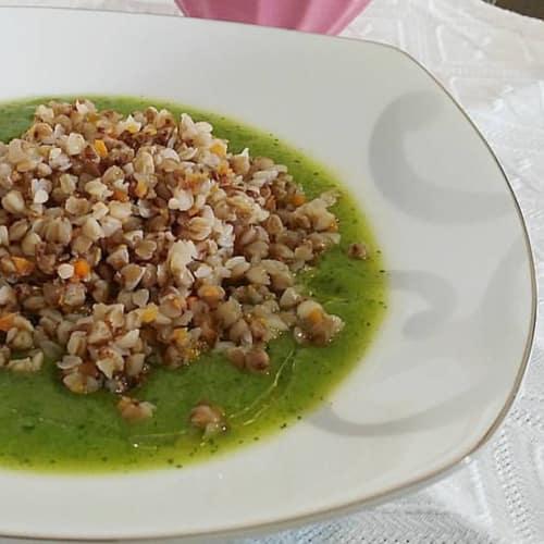 Buckwheat cream of zucchini