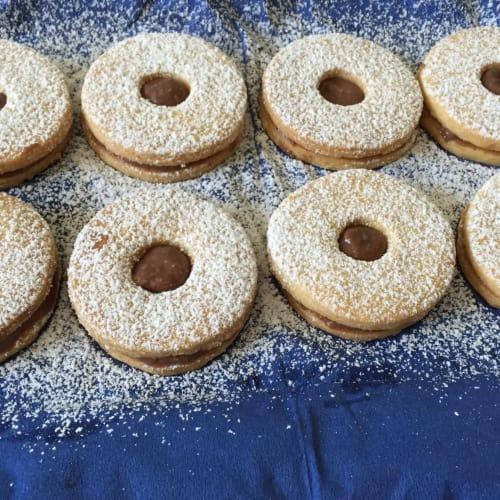 galletas dobles con crema de chocolate