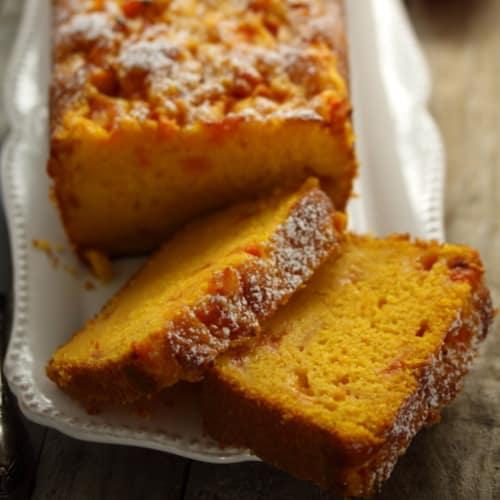 Torta de zanahorias y albaricoques