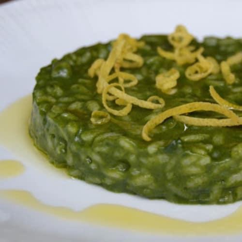 Risotto con spinaci e limone