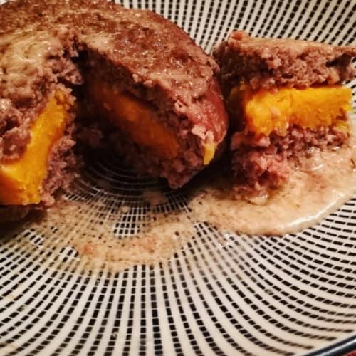 Hamburger al forno con sorpresa di zucca