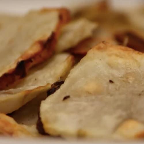 Chips de alcachofa de Jerusalén