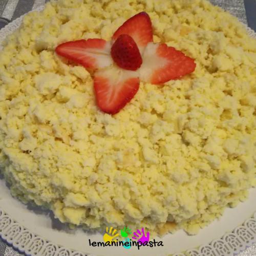 torta Mimosa con fresas