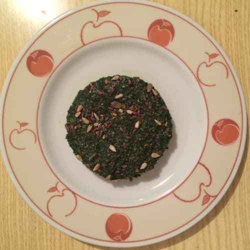 Burger spinach