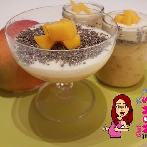 Budino di mango e semi di chia