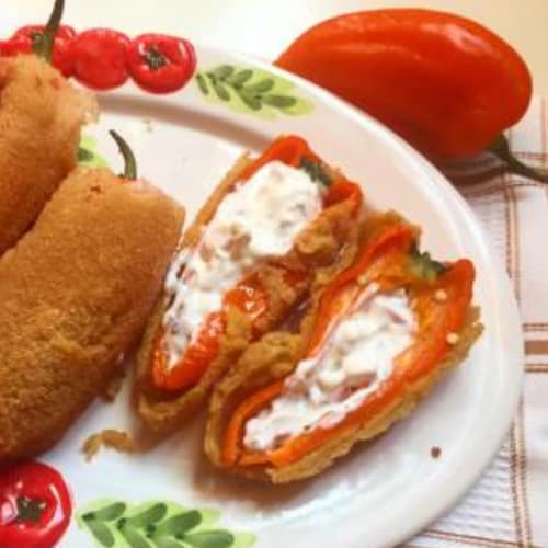 Sweet peppers stuffed