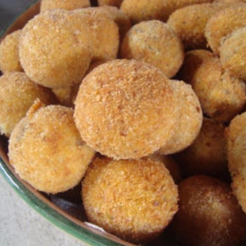 Crocchette di purè con funghi e melanzane