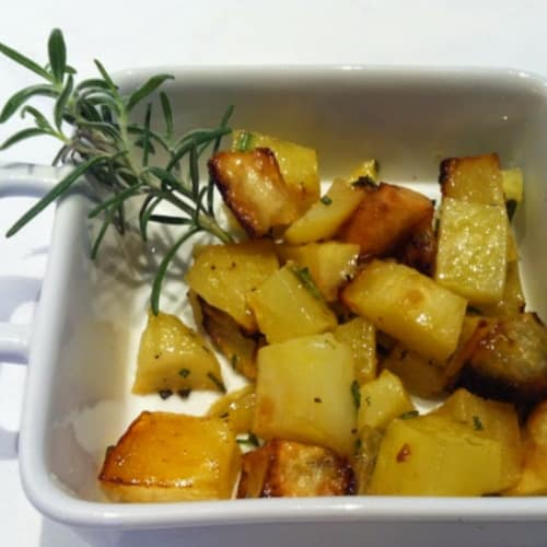 Baked potatoes with fresh rosemary