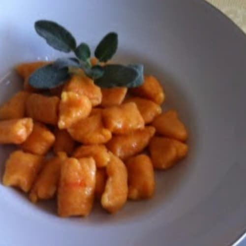 Potato gnocchi and pumpkin