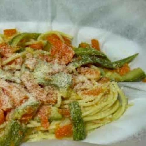 Spaghetti al cartoccio