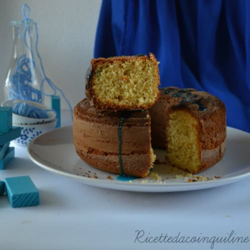 Bundt Cake with rice flour, orange and ginger