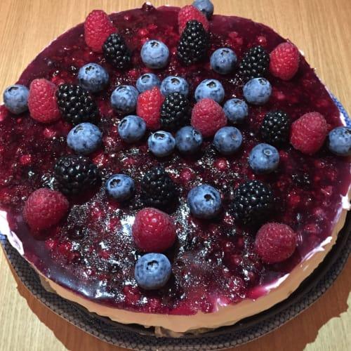 Cheesecake alla vaniglia e frutti di bosco