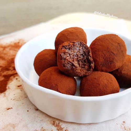Trufas de coco y el cacao
