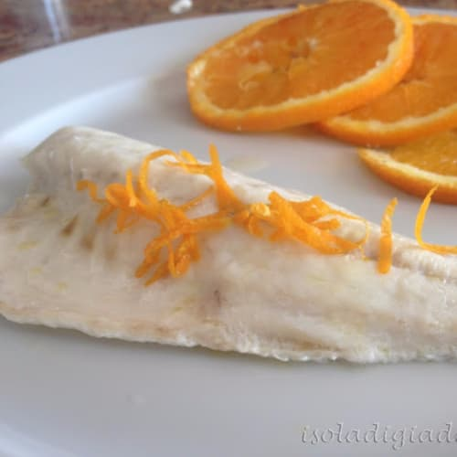 Fillet of sea bass with citrus