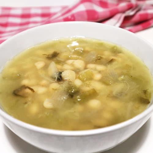 Zuppa di fagioli toscani al verde