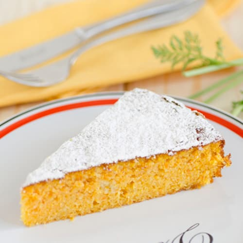 pastel de zanahoria y jengibre fresco