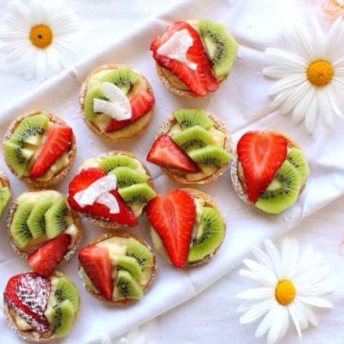 tartas de frutas con crema de soja