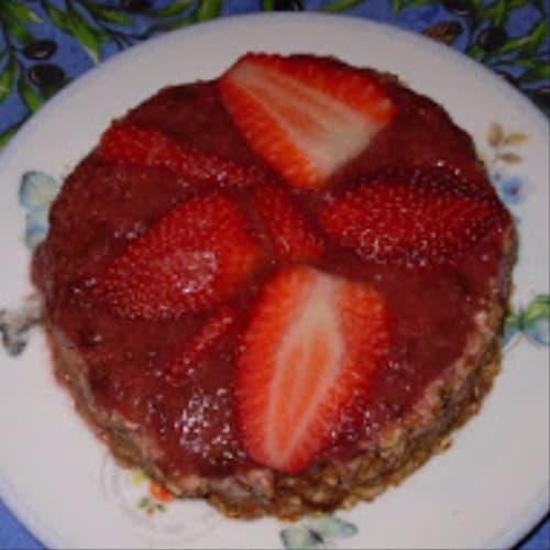 Torta con las fresas