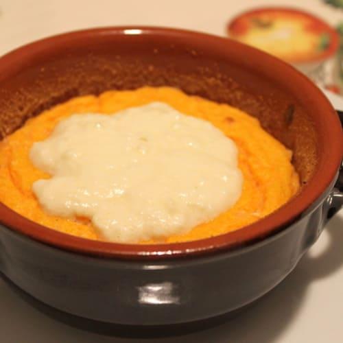 Soufflé de calabaza y queso fontina