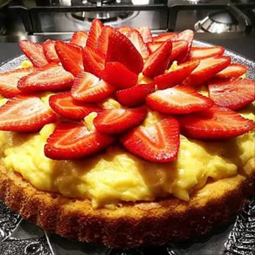 Soft Crostata with Strawberries