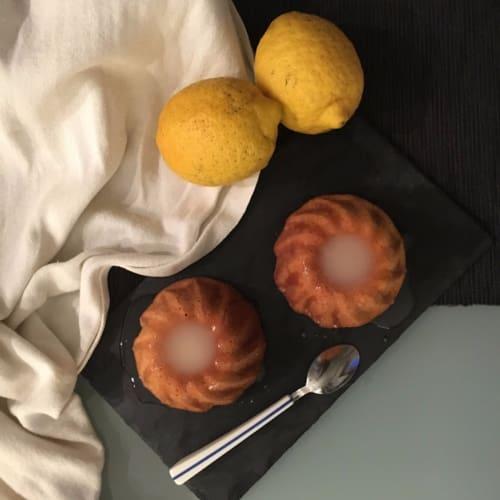 Pasteles helado con limón