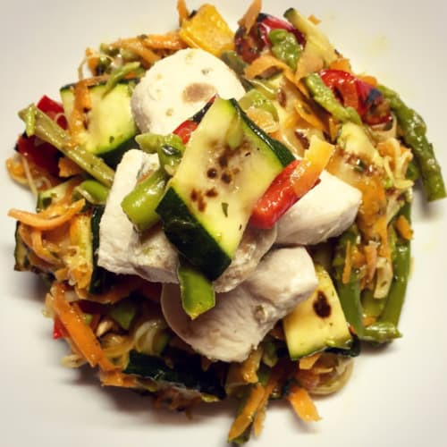 CHICKEN SALAD WITH 5 VEGETABLES