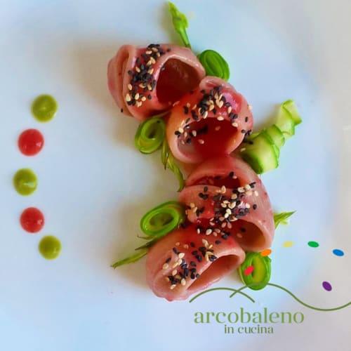 Conchiglioni in Strawberry Sauce and Asparagus
