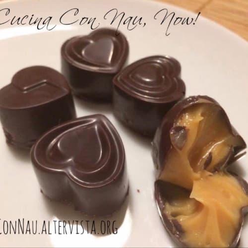 Salami caramel chocolates