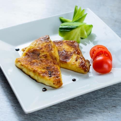 Tortilla con queso crema