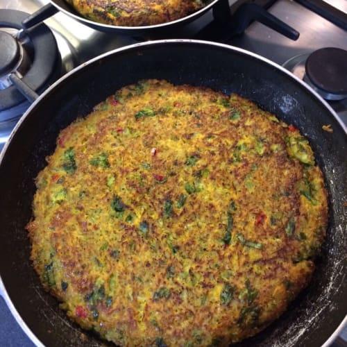 Tortilla de verduras con quinoa