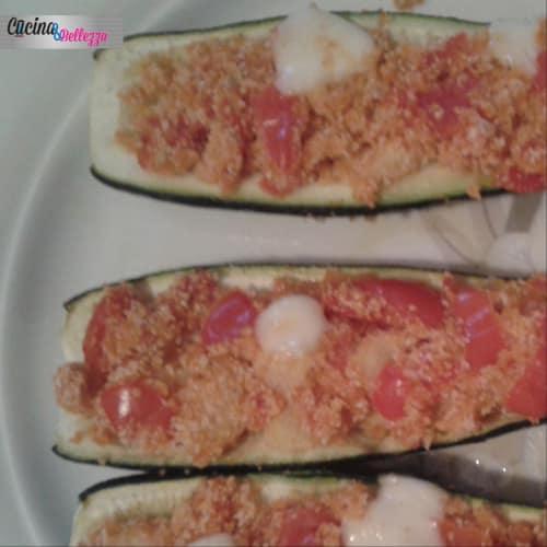 Zucchini stuffed .estive, light, good and full of taste