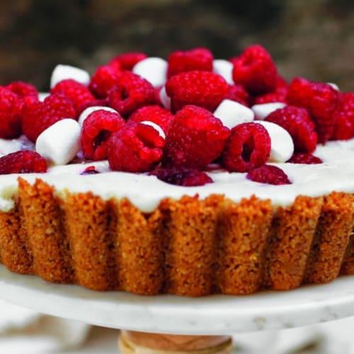 Tarta de frambuesa y Marshmallow