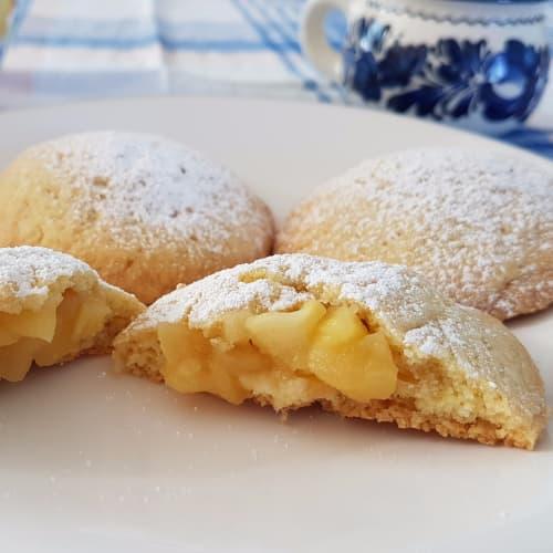 El corazón de Apple galletas
