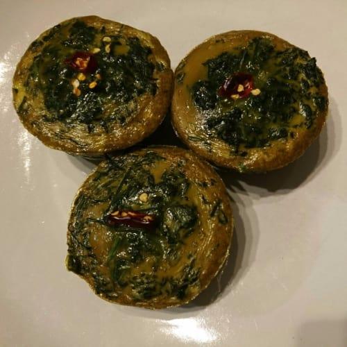 frittata para muffins verde
