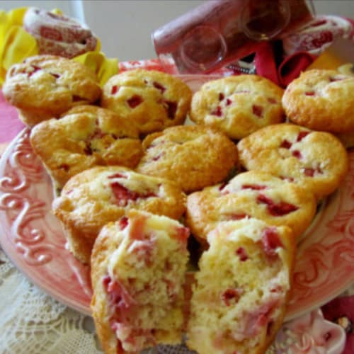 Muffin alle Fragole e Yogurt