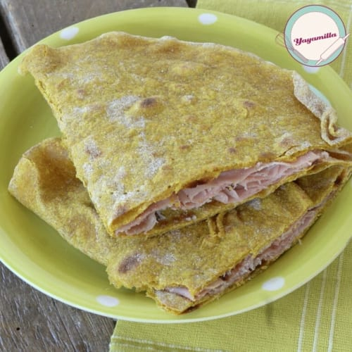 Piadina Integral to Curcuma