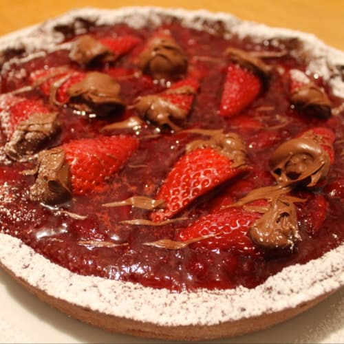 Strawberry tart and Nutella