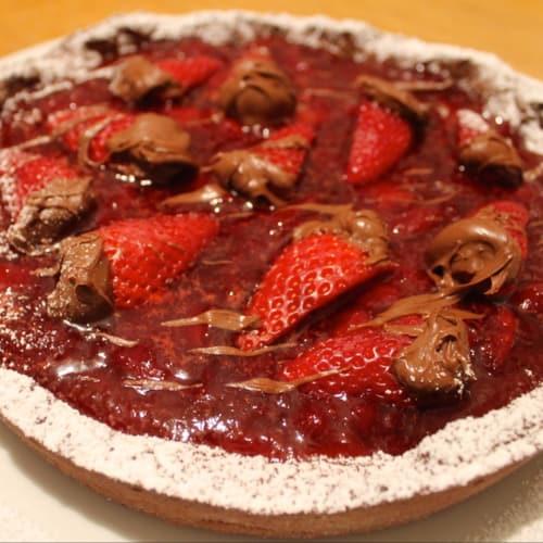Tarta con fresas y Nutella