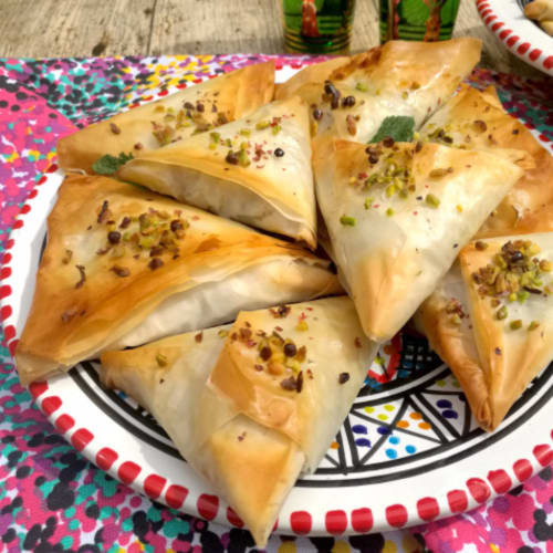 Spinach triangles or spanakopita