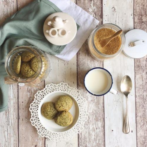 Biscotti vegani al matcha e cocco