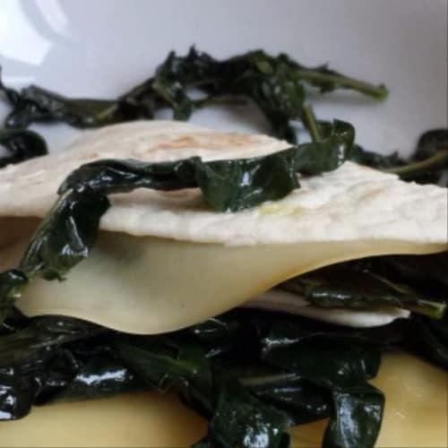 Piadina ai broccoletti neri