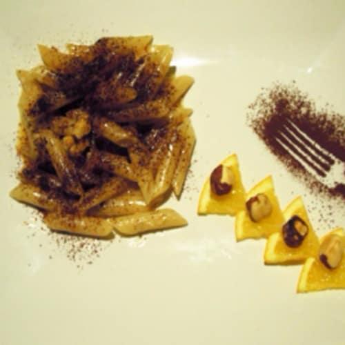 Pennette aroma de cacao, naranja y avellanas tostadas