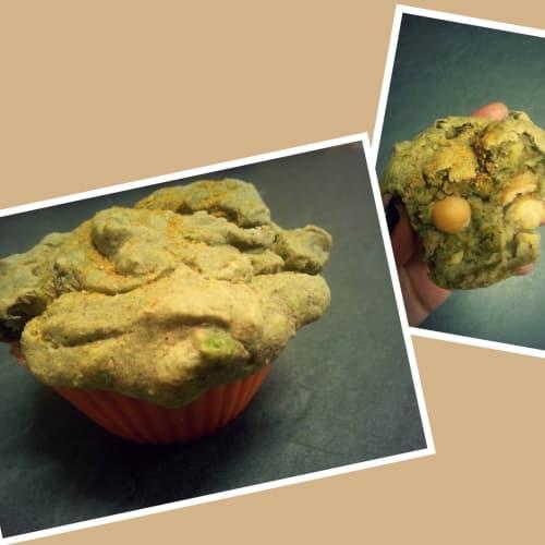 Muffin All'avocado Con Piselli E Ceci