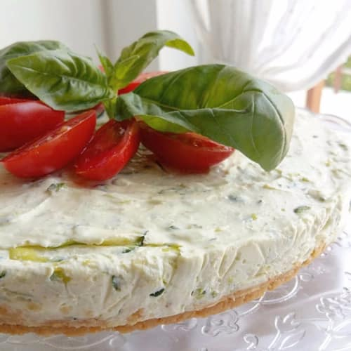 Cheesecake salted with zucchini